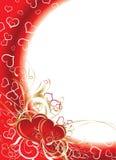 Biglietti di S. Valentino priorità bassa, vettore Fotografie Stock Libere da Diritti
