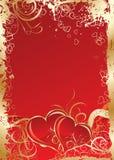 Biglietti di S. Valentino priorità bassa, vettore Immagini Stock