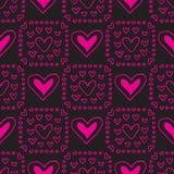 Biglietti di S. Valentino seamless-28 Fotografia Stock Libera da Diritti