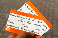 Biglietti di treno Fotografia Stock Libera da Diritti