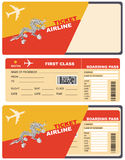 Biglietti di volo nel Bhutan Immagini Stock Libere da Diritti