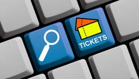 Biglietti online Fotografia Stock