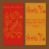 Biglietti per il partito messicano Fotografie Stock Libere da Diritti