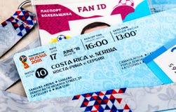 Biglietti per la coppa del Mondo 2018 della FIFA in Russia, Samara Arena Immagini Stock