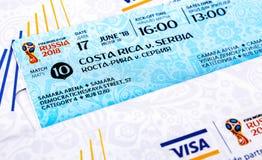 Biglietti per la coppa del Mondo 2018 della FIFA in Russia, Samara Arena Immagini Stock Libere da Diritti