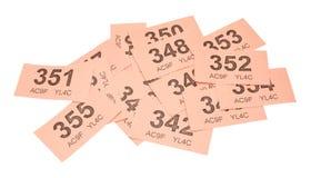 Biglietti rosa di tombola fotografia stock
