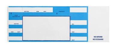 Biglietto blu di concerto fotografia stock