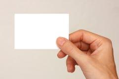 Biglietto da visita Fotografia Stock Libera da Diritti
