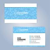 Biglietto da visita Azzurro e bianco Immagini Stock