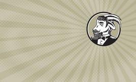 Biglietto da visita barbuto dei barbieri della capra royalty illustrazione gratis
