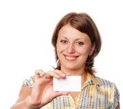 Biglietto da visita in bianco Fotografie Stock Libere da Diritti