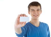 Biglietto da visita in bianco Immagini Stock Libere da Diritti