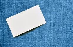 Biglietto da visita in bianco Immagine Stock