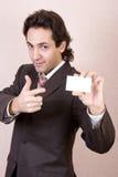Biglietto da visita in bianco Fotografia Stock