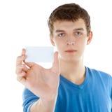 Biglietto da visita in bianco Immagine Stock Libera da Diritti