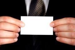 Biglietto da visita in bianco - aggiunga il testo Immagine Stock