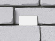 Biglietto da visita in bianco sul brickwall rappresentazione 3d Fotografie Stock