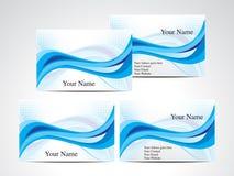 Biglietto da visita blu astratto dell'onda Immagine Stock