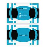 Biglietto da visita blu di concetto Fotografia Stock Libera da Diritti