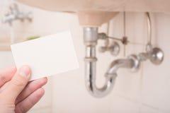 Biglietto da visita degli idraulici fotografia stock libera da diritti