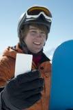 Biglietto da visita degli sport invernali Fotografia Stock