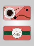 Biglietto da visita del caffè Immagine Stock Libera da Diritti