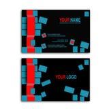 biglietto da visita del cubo 3d Immagini Stock