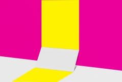 Biglietto da visita del modello Carta del Libro Bianco sul fondo di colore Immagini Stock