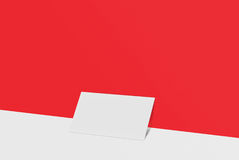 Biglietto da visita del modello Carta del Libro Bianco sul fondo di colore Fotografia Stock Libera da Diritti