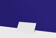 Biglietto da visita del modello Carta del Libro Bianco sul fondo di colore Fotografia Stock
