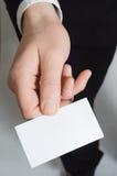 Biglietto da visita della tenuta della mano Immagini Stock Libere da Diritti