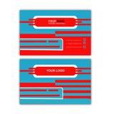 Biglietto da visita di Blue Line Immagini Stock