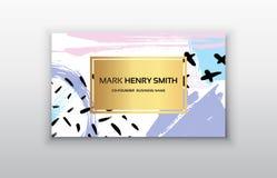 Biglietto da visita di vettore Progettazione di biglietto da visita di lusso Immagini Stock Libere da Diritti