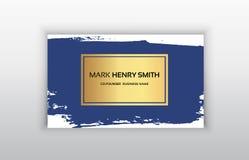 Biglietto da visita di vettore Progettazione di biglietto da visita di lusso Fotografia Stock