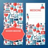 Biglietto da visita e carta intestata con il simbolo medico Fotografia Stock