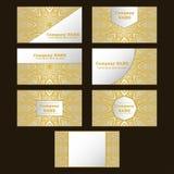 Biglietto da visita Elementi decorativi dell'annata Fondo disegnato a mano della mandala Immagini Stock