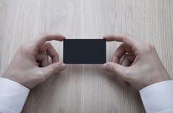 Biglietto da visita nero in bianco fotografia stock libera da diritti