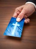 Biglietto da visita trasversale di religione Fotografia Stock