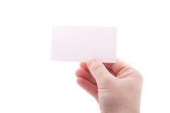 Biglietto da visita vuoto isolato Fotografia Stock Libera da Diritti