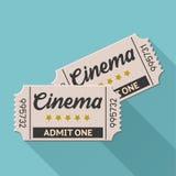 Biglietto del cinema Fotografie Stock Libere da Diritti
