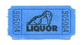 Biglietto del liquore immagini stock