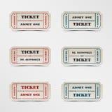 Biglietto dell'annata della raccolta Immagini Stock