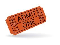 Biglietto dell'entrata Immagini Stock
