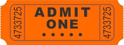 Biglietto dell'entrata Immagini Stock Libere da Diritti