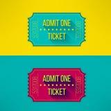Biglietto dell'entrata nella progettazione piana moderna con lungamente Fotografia Stock Libera da Diritti