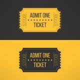 Biglietto dell'entrata nello stile d'annata alla moda Ammetta uno Immagine Stock