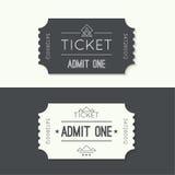 Biglietto dell'entrata a vecchio stile d'annata Immagine Stock