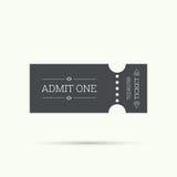 Biglietto dell'entrata a vecchio stile d'annata Immagini Stock Libere da Diritti