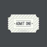 Biglietto dell'entrata a vecchio stile d'annata Fotografia Stock Libera da Diritti