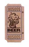 Biglietto della birra Fotografia Stock